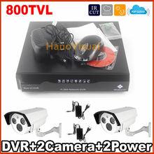 Safety Digicam System  2 Models Array Infrared LED CCTV Package 4CH Recorder DVR Package 800TVL CMOS CCTV Digicam Surveillance System