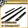 Car Styling For Volkswagen VW Golf 7 GTI TSI Carbon Fiber Door Sill 4pcs