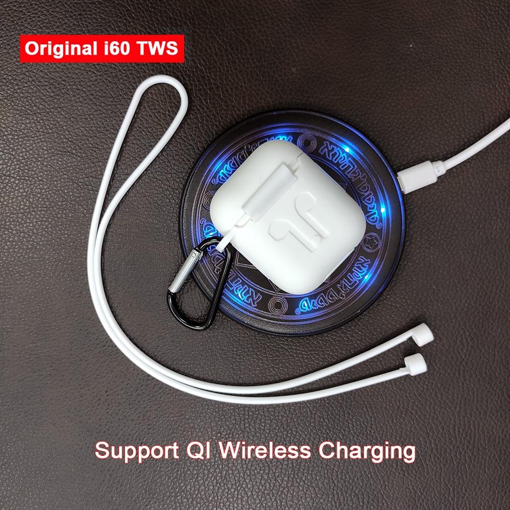 I60 Tws Pop Up 1:1 Replika Terpisah Menggunakan Wireless Earphone QI Pengisian Nirkabel Bluetooth 5.0 Earphone Bass Earbud PK I20 i30