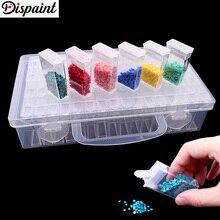 цена на Dispaint New Diamond embroidery diamond painting tool! Daimond transparent plastic storage box, jewelry Drill Storage Box Gift