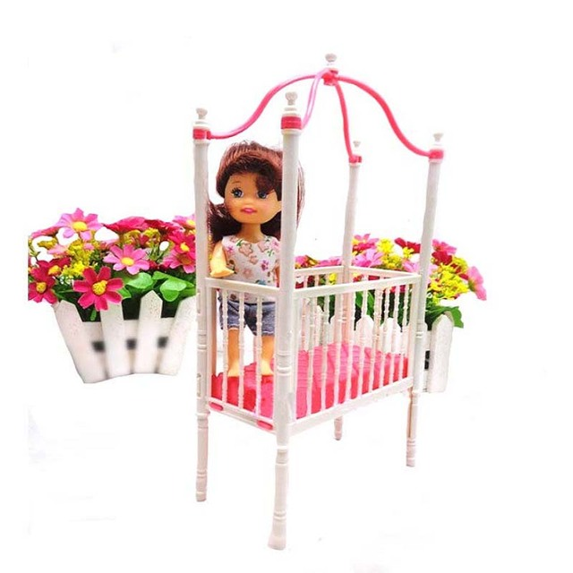 Sun Cloud 1 Pcs Fashion Crib Baby Doll Bed Accessories Cot For