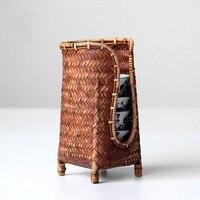Içeren çay bardağı çay bambu sepet toptan aksesuarları bambu saklama kutusu manuel çanta bardak tutucu depolama