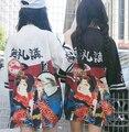 2016 горячая Темно-Синий Японские Леди Атласная Кимоно С Оби Юката Хаори Урожай Этап Производительность Костюм Бесплатная Доставка