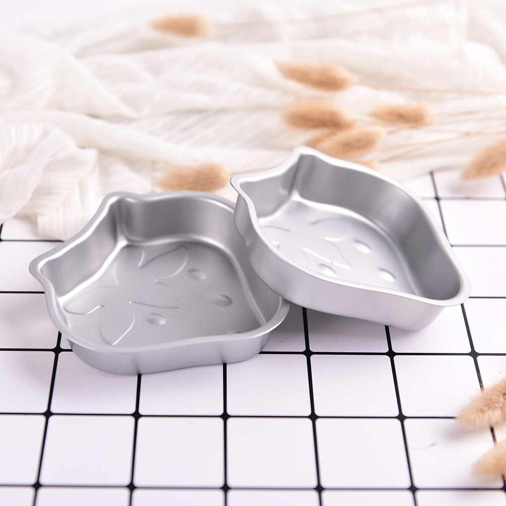 Strawberry Shape Handmade Aluminum Metal Bath Bomb Mold Fizzy Soap Mould Cake Playdough Tools toys new arrival 2pcs