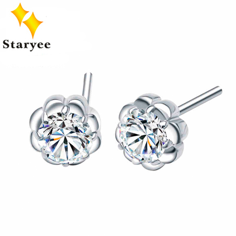 Certified 1.6 Carat A Pair Round Brilliant Cut Moissanite Stud Earrings Solid 18K White Gold Jewelry For Women Birthday Gift pair of stylish round alloy stud earrings for women