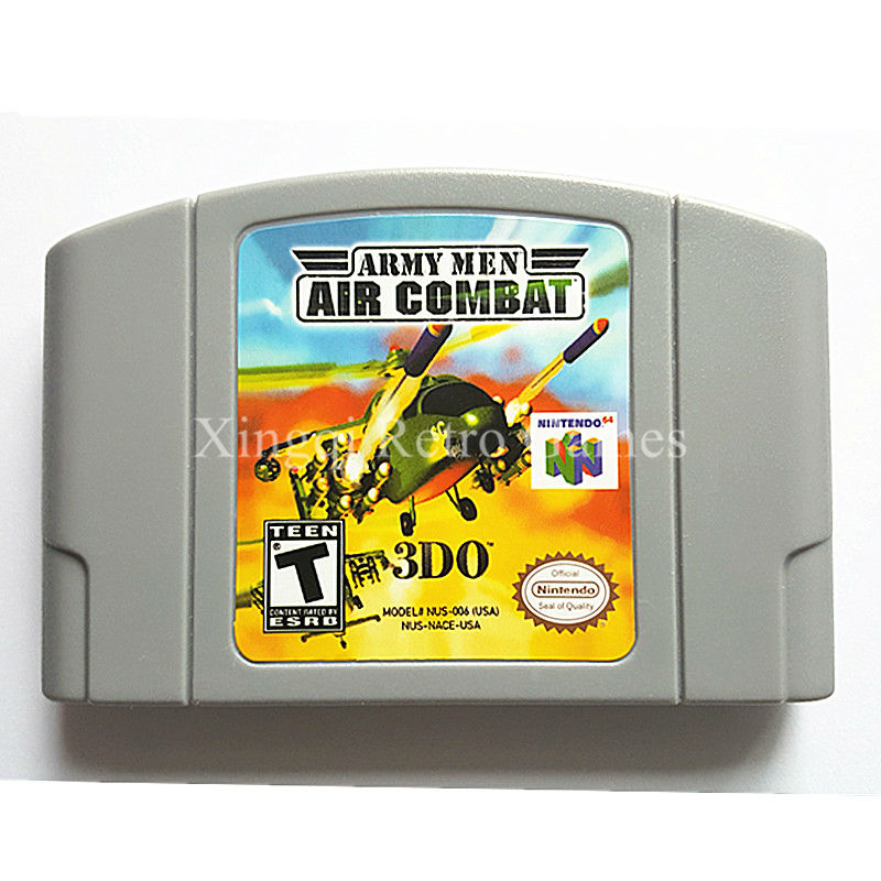 Nintendo N64 Game Army Men Air Combat Video Game Cartridge Console Card English Language US Version