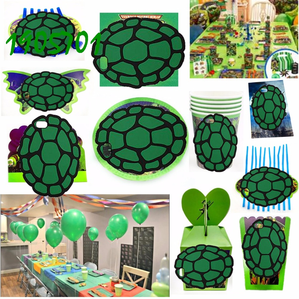 TEENAGE MUTANT NINJA TURTLES PARTY SUPPLY BANNER CAKE WRAPPER TOPPER PARTY BAG
