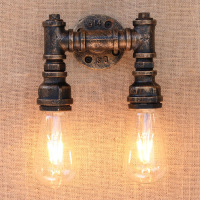 Loft Industrial Water Pipe Wall Light Luminaire Home Lighting Retro Wall Lamp Vintage Lamparas De Pared