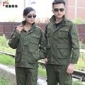 De manga larga ropa de trabajo conjunto masculino 100% del algodón de la ropa de protección ropa de trabajo ropa de trabajo engrosamiento militar traje uniforme militar