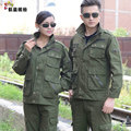 Long-sleeve work wear set male 100% cotton protective clothing military workwear work wear thickening military uniform suit