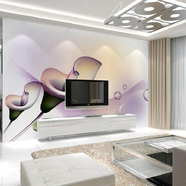 Us 16 71 45 Off Modern Wall Papers 3d Wall Art Flowers Painting Photo Wall Paper Murals Living Room Bedroom Self Adhesive Vinyl Silk Wallpaper In