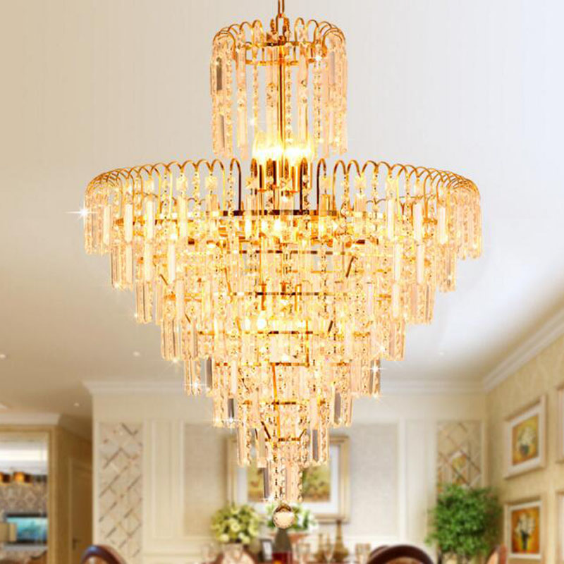 Modern minimalist luxury chandelier stylish living room bedroom chandelier led lighting fixture home lamps golden crystal lamp radiolink r12dsm 2 4g 12 channels receiver 12ch rx fss dsss spread spectrum for radiolink transmitters at9 at9s at10 at10ii