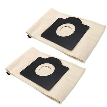 цена на 2Pcs Washable Cloth Dust Bags for Karcher WD3 MV3 SE4001 A2299 K2201 F K2150 Vacuum Cleaner Spare Parts Replacement Dust Bag