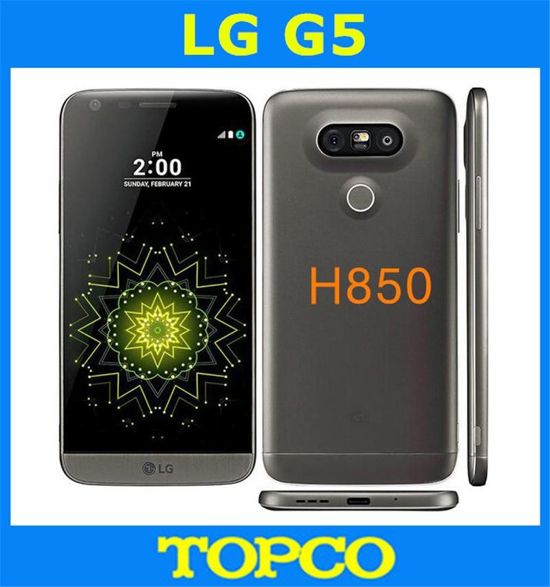 "LG G5 H850 Original Unlocked GSM 4G LTE Android Quad Core RAM 4GB ROM 32GB 5.3"" 16MP Mobile Phone"