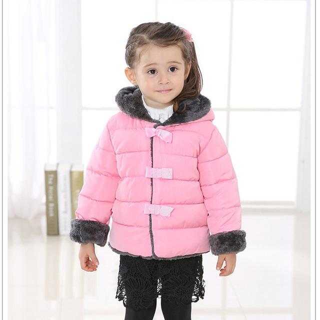 Meninas novas casacos de neve desgaste do inverno das crianças do bebê meninas casacos com capuz para baixo e parkas crianças de algodão acolchoado