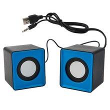محمول المتكلم مصغرة USB 2.0 مكبرات الصوت الموسيقى ستيريو للكمبيوتر حاسوب شخصي مكتبي كمبيوتر محمول دفتر المسرح المنزلي
