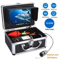 7inch LCD Fish Finder Underwater Fishing Camera 1000TVL HD Waterproof Video 6 LED Stainless Steel Fish