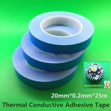 20mm 10mm Transferencia de Doble Cara Cinta Adhesiva Conductora Térmica para LED de Alta Potencia Chip de Módulo PCB Disipador CPU Conducta Heat