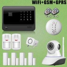 Etiger Top Venta GSM GPRS WiFi Sistema de Alarma + Siren + Cámara de Red IP + Alarma de Incendio