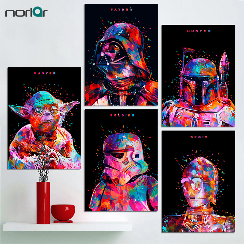 Minimalist Art Print Star Wars Canvas Painting Poster