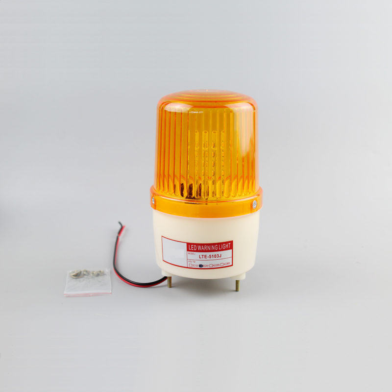 Yellow LTE-5103J Flash sound warning light led strobe light siren industrial  flashing amber sound alarm light with buzzer 90dB dc 24v electronic red led flashing alarm buzzer siren 100db bj 3