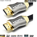 Wholesale 20pcs/lot GOLD 15m (50FT)HDMI v1.4 PREMIUM Cable HDTV 3D 1080P 2160P Lead metre