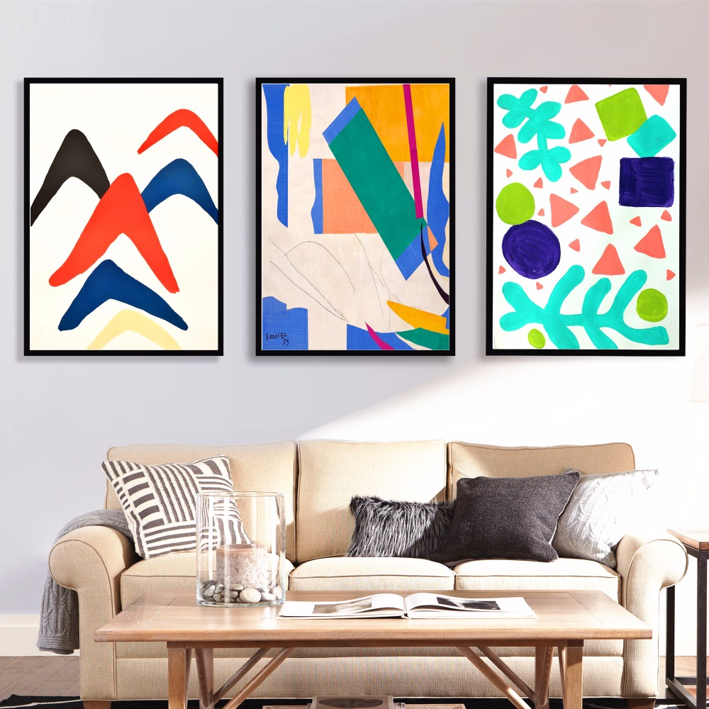 Matisse Abstract Artwork Canvas Art Print Painting Poster Wall ...