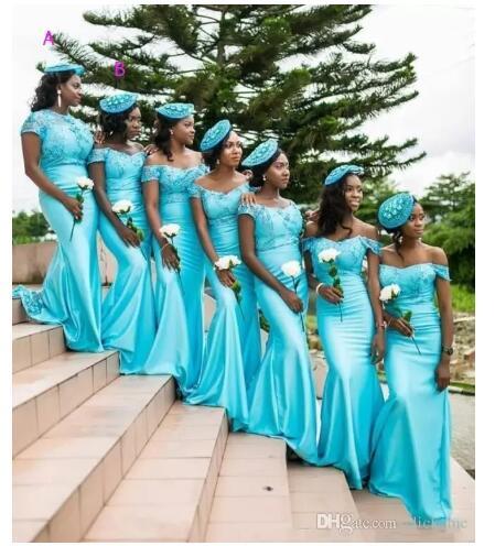 Vestidos para damas de boda color turquesa