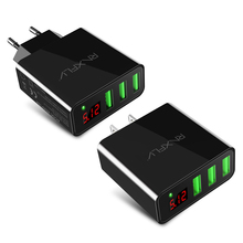 RAXFLY 3 Ports Mur Voyage Chargeur Rapide pour iPhone iPad Samsung Xiaomi Android Mobile Téléphone UE US Charge Rapide USB Socket Adapter