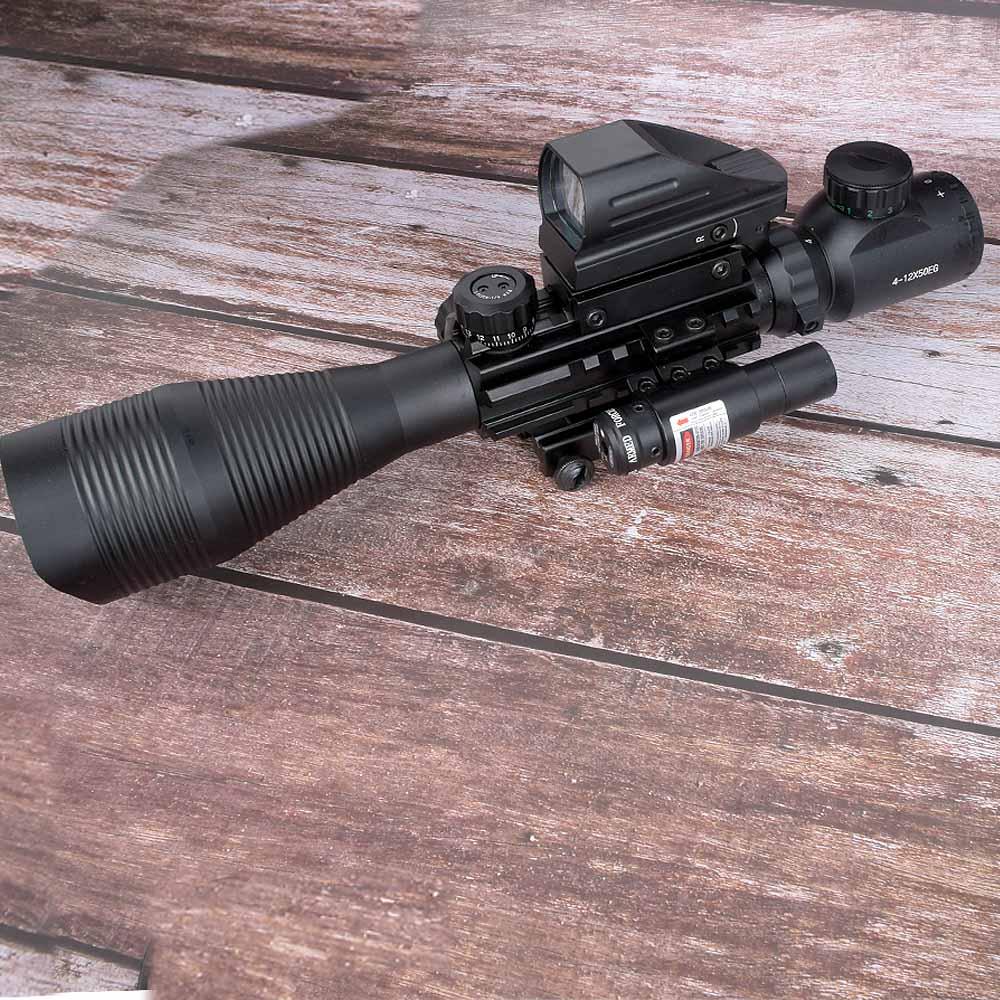 wipson 4 12x50 iluminado telemetro reticulo rifle scope holografico 4 reticulo vista 11mm e 20mm laser