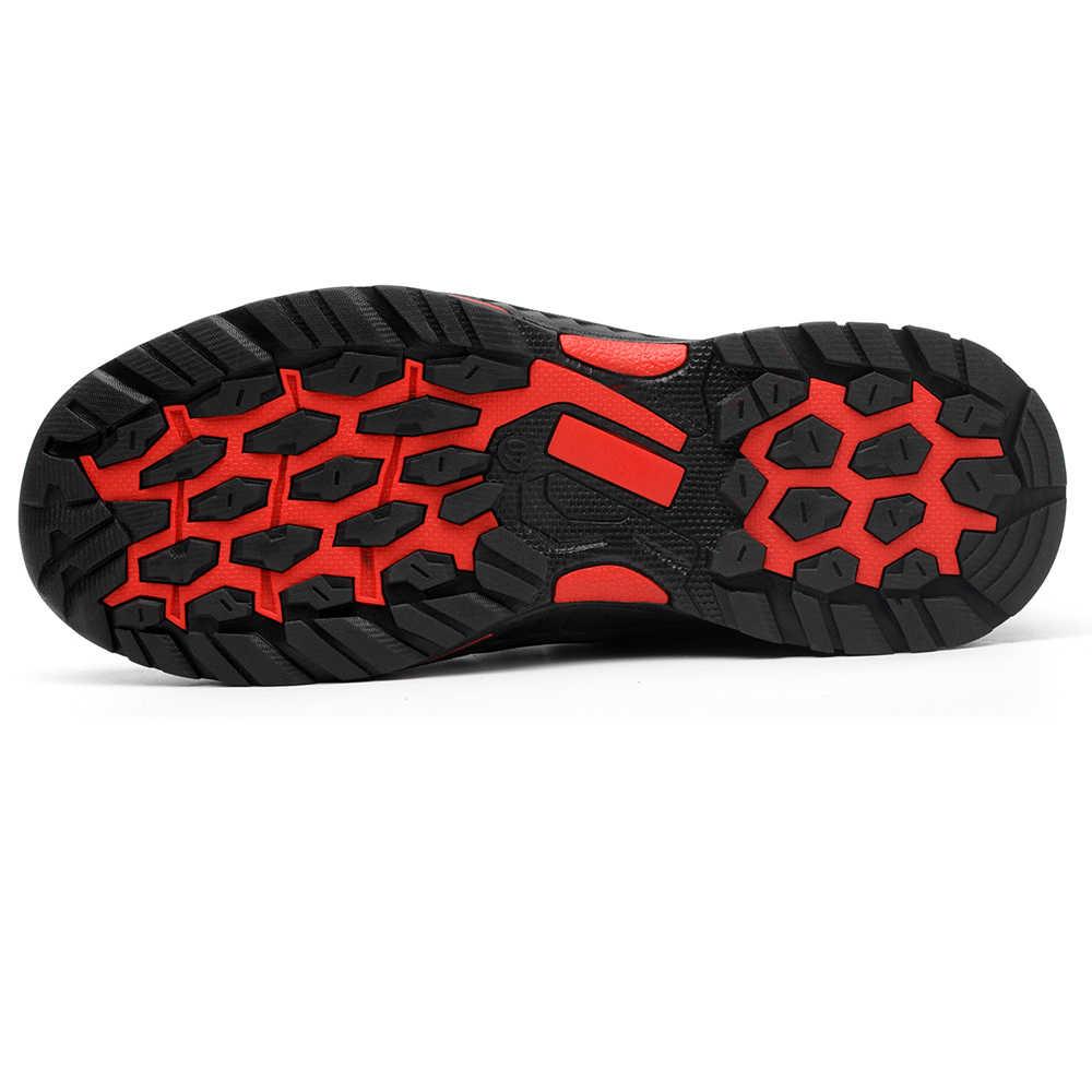 Su Geçirmez Açık erkek Çelik Ayak Anti Smashing iş ayakkabısı Erkekler kaymaz Delinme Geçirmez Güvenlik Botları Ayakkabı