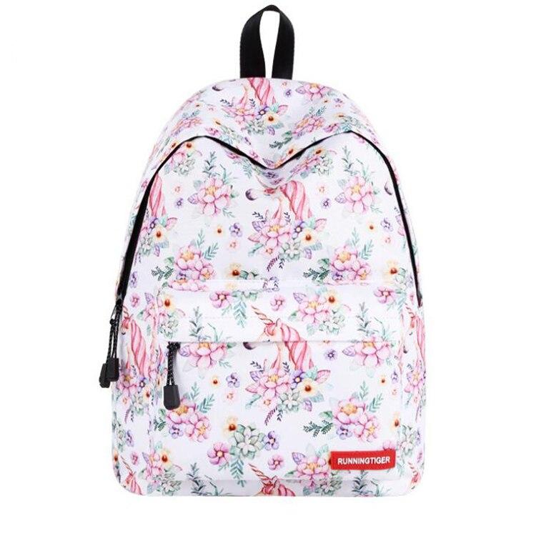Ein Schule Teile Mode Laptop Reisetaschen Druck Haupt Rucksack 50 Weibliche Mädchen Sac los Für wYgqndv