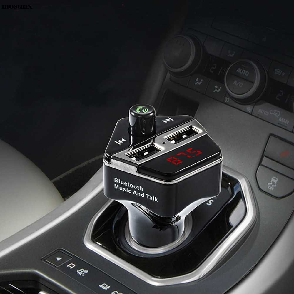 Livraison gratuite sans fil Bluetooth voiture Kit lecteur MP3 FM transmetteur SD TF double USB Charge voiture électronique micro voiture Mp3 voiture