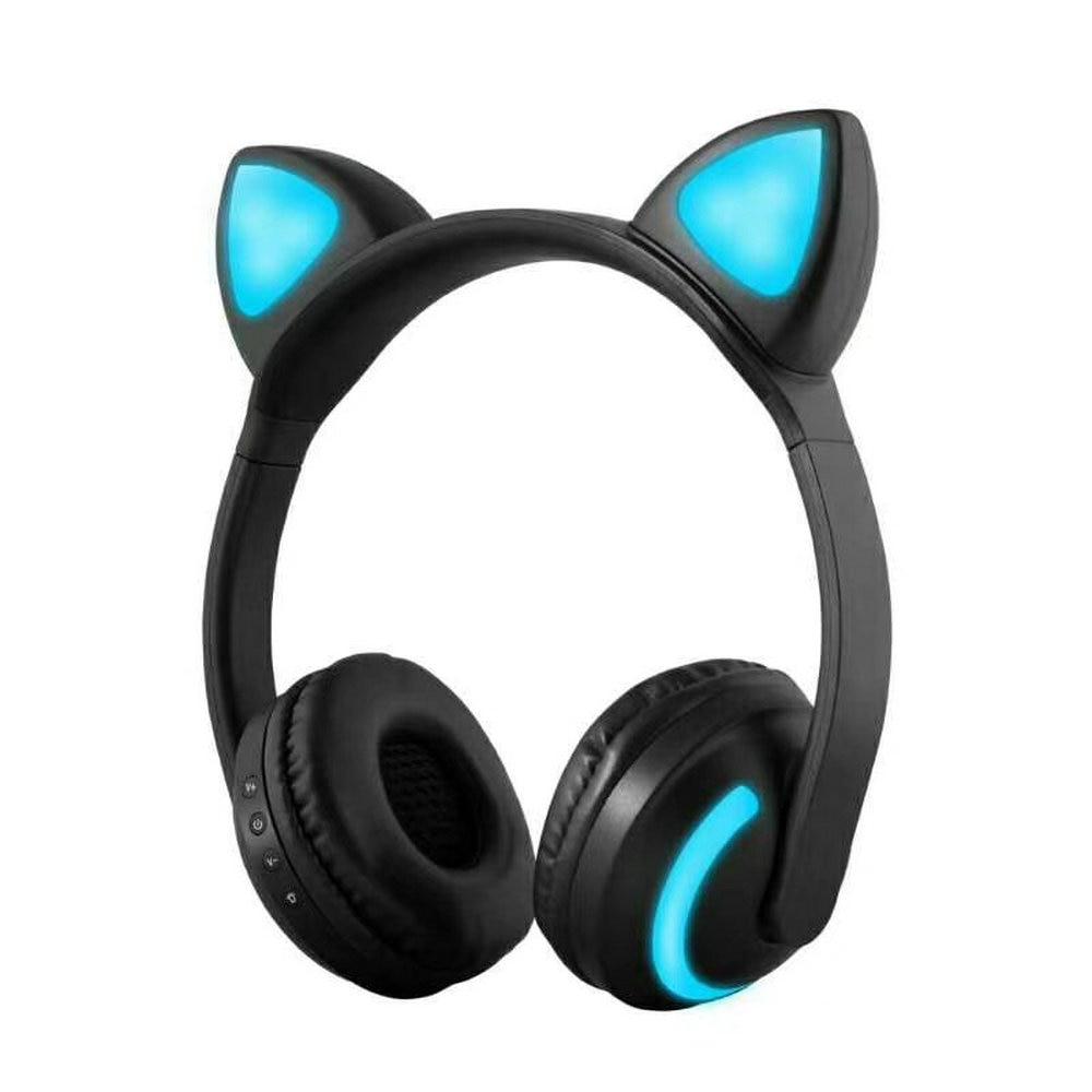Wireless cat ear headphones - wireless headphones bluetooth earbuds apple