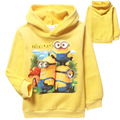Sweatshirt Real Polerones 2015 New Despicable Me Minion Sweater with Warm Winter Thickened Child Jacket Baby Boy Clothes