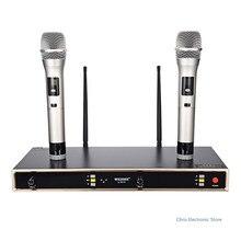 Micrófono WEISRE U-8010 U-8010 UHF Sistema de Micrófono Inalámbrico Conjunto Infrarrojo Automático de Frecuencia