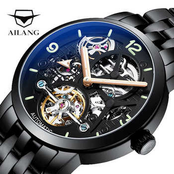 AILANG quality watch original design automatic top brand tourbillon leather watch men montre homme machinery diesel watch male - DISCOUNT ITEM  40% OFF All Category
