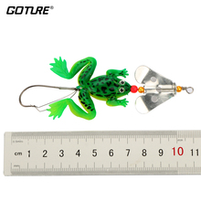 Goture 4pcs/lot 9cm/6.2g Rubber Fishing Frog Buzzbaits Soft Bass Fishing Bait Fishing Frog Lure Fishing
