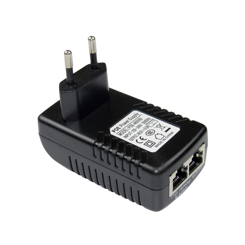 POE injector Ethernet Power Supply Adapter DC48V 0.5A 15.4W,POE pin4/5(+),7/8(-)Compatib ...