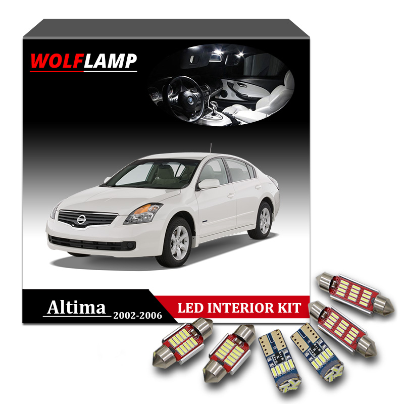 Wolflamp 11pcs Super Bright Ice Blue Led Interior Car Lights For 2002 2006 Nissan Altima Map