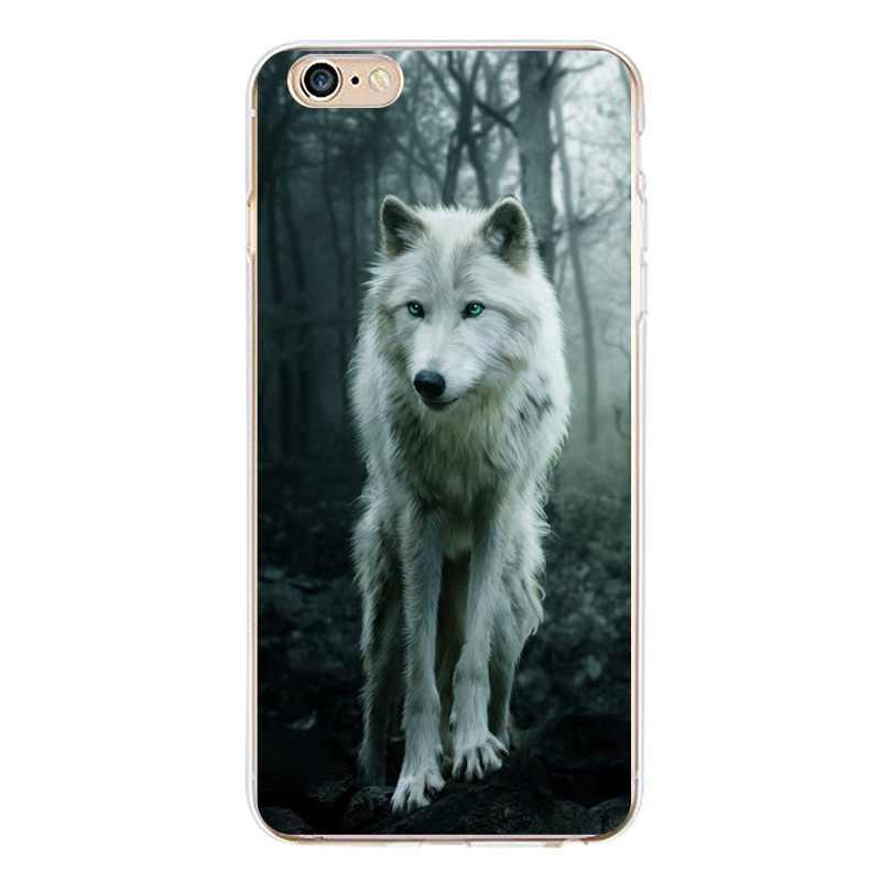 Drzewo miękkie przezroczysty TPU etui na telefony dla iPhone 4/4S 5 5S 6 6 plus 7 8 plus dla iPhone x silikonowe wilk koń księżyc pokrywa darmowa wysyłka
