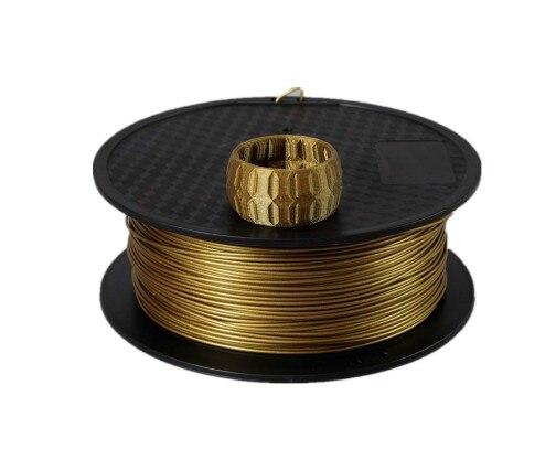 20% metall + 80% PLA 3d drucker filament Metall PLA Filament 1,75mm Bronze Aluminium Aluminium Kupfer impressora 3d filamento