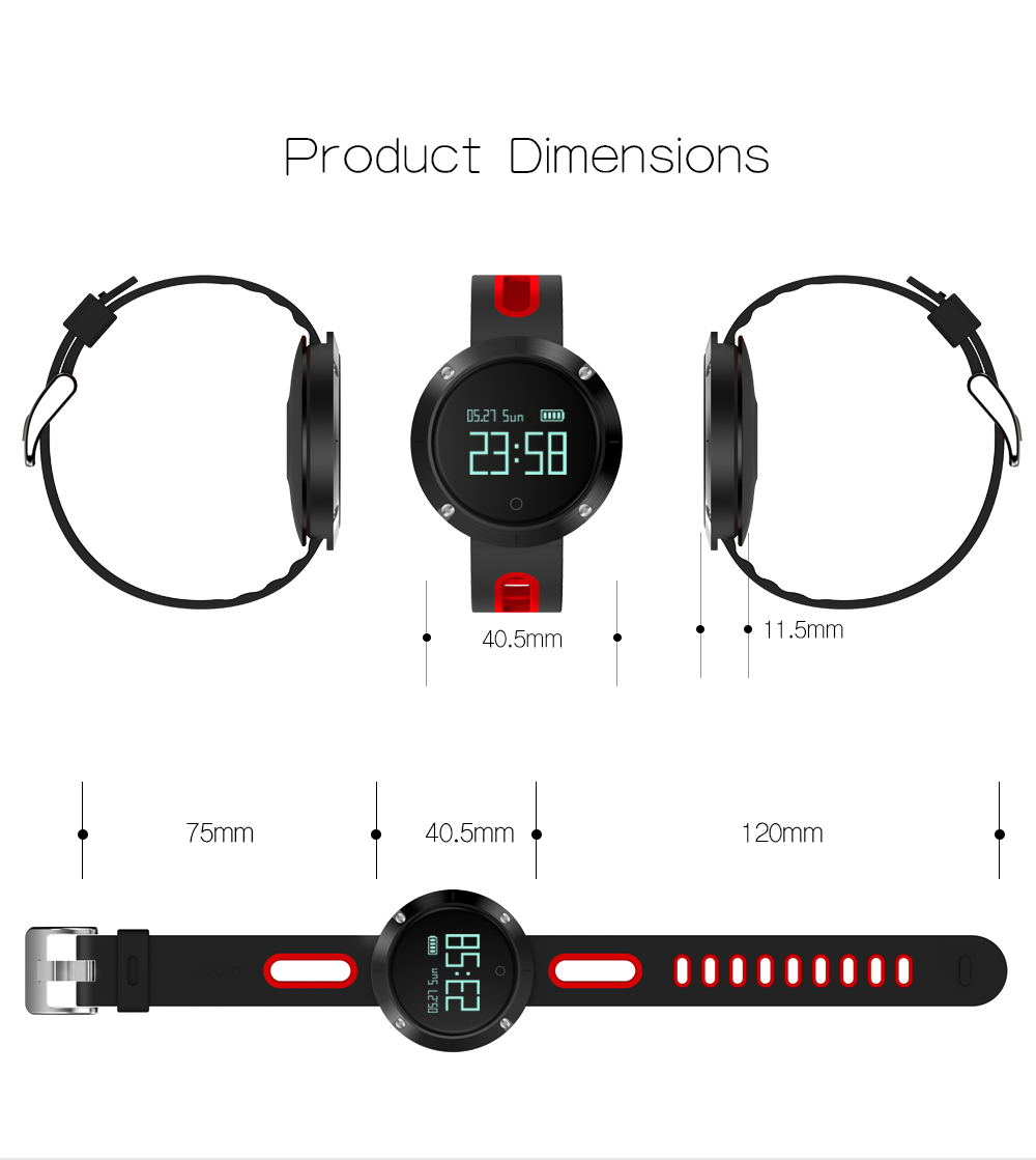 MAKIBES DM58 BLUETOOTH SPORTS HEART RATE SMART BAND WITH BLOOD PRESSURE MONITOR IP68 WATERPROOF WRISTBAND 237054 49