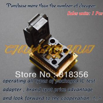 QFP32 TO DIP32 QFP32 TQFP32 PQFP32 IC Programming Adapter Test Burn-in Socket 0.8mm Pitch sop8 to dip8 so8 soic8 enplas ic programming adapter test burn in socket 3 9mm width 1 27mm pitch