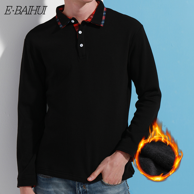 0e060ba963a9 E-BAIHUI 2019 New Fashion Brand Men Clothes Solid Color Long Sleeve Slim  Fit T Shirt Men Cotton T-Shirt Casual T Shirts JR005