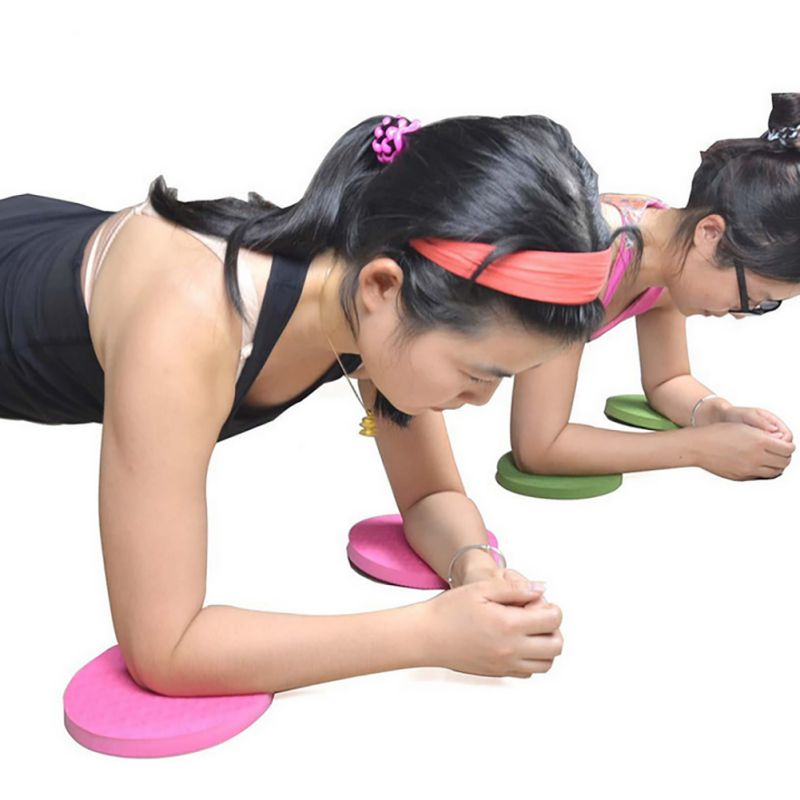 2PCS/Set Portable Small Round Knee Pad Yoga Mats Fitness Sprot Pad Plank Gym Disc Protective Pad Cushion Non Slip Mat