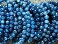 Free Shipping (44 beads/set/42g) Natural 8-8.5mm Blue Kyanite Smooth Round European Bracelet  Wholesale Beads