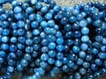 Frete Grátis (44 contas/set/42g) Natural 8-8.5mm Azul Kyanite Rodada Suave Contas europeu Pulseira Atacado
