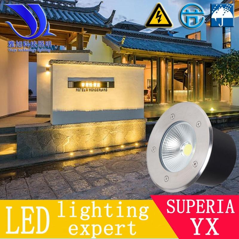 1pc  Free Ship 1-36W LED Underground Light IP65 Buried Ground Floor Recessed Lamp110V-240V Outdoor Flood Lamp DC12V24V