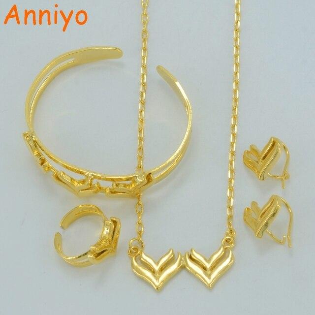 Anniyo Baby Jewelry sets NecklaceEarringsRingBangle Kids